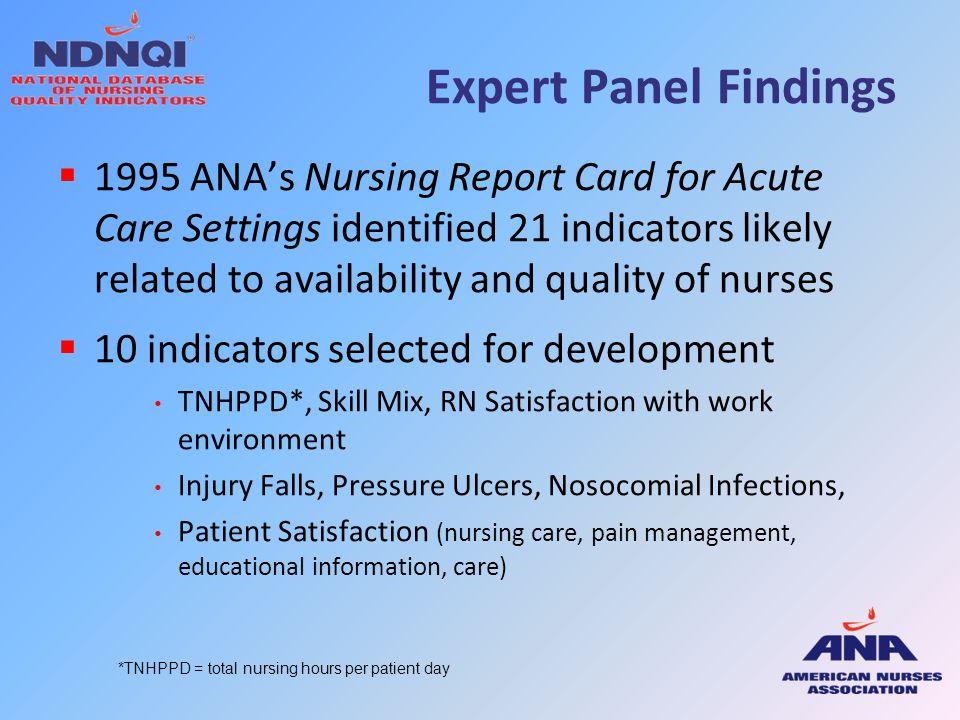 Expert Panel Findings