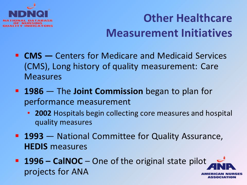 Other Healthcare Measurement Initiatives