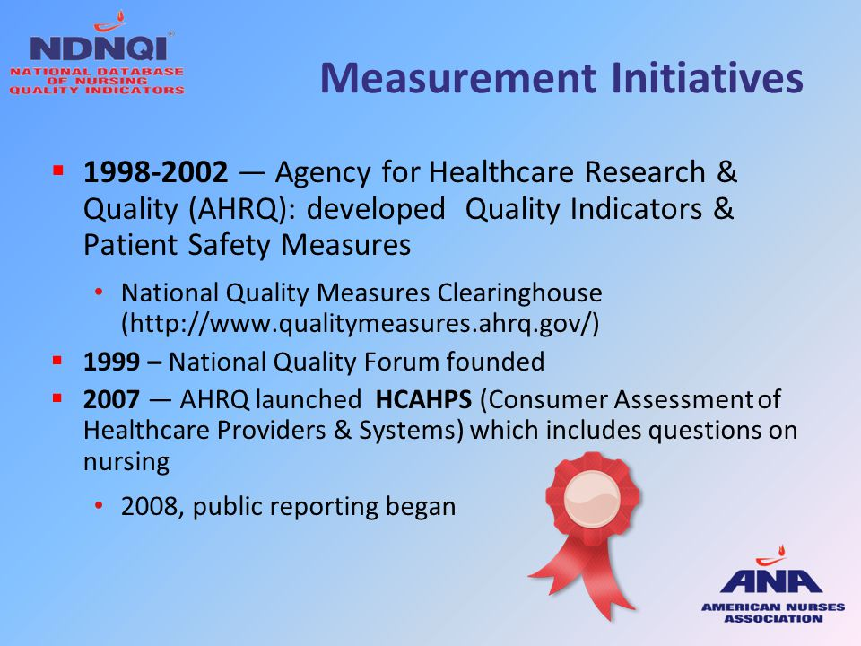Measurement Initiatives