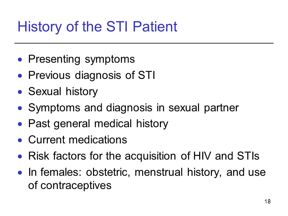 History of the STI Patient