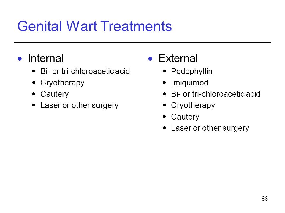 Genital Wart Treatments