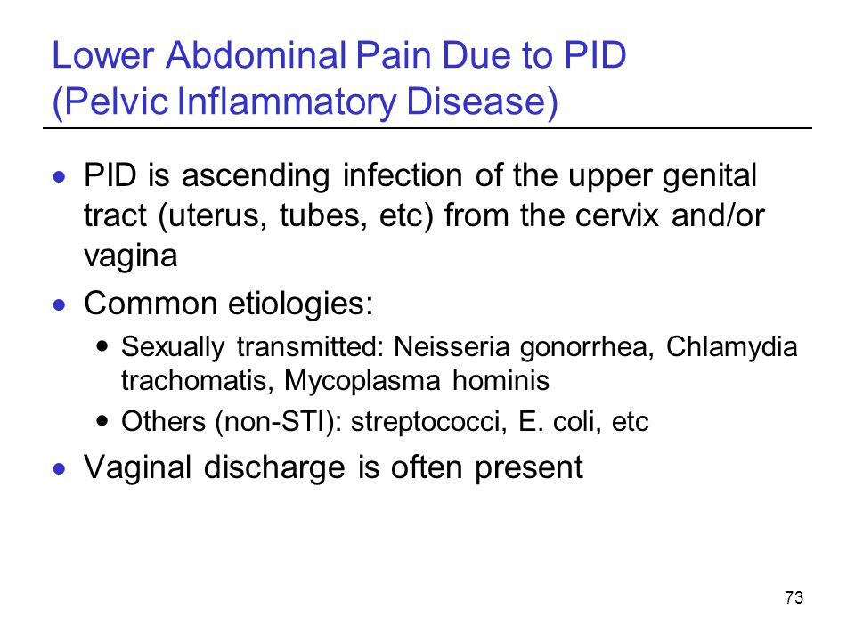 Lower Abdominal Pain Due to PID (Pelvic Inflammatory Disease)