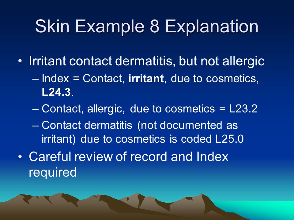 Skin Example 8 Explanation