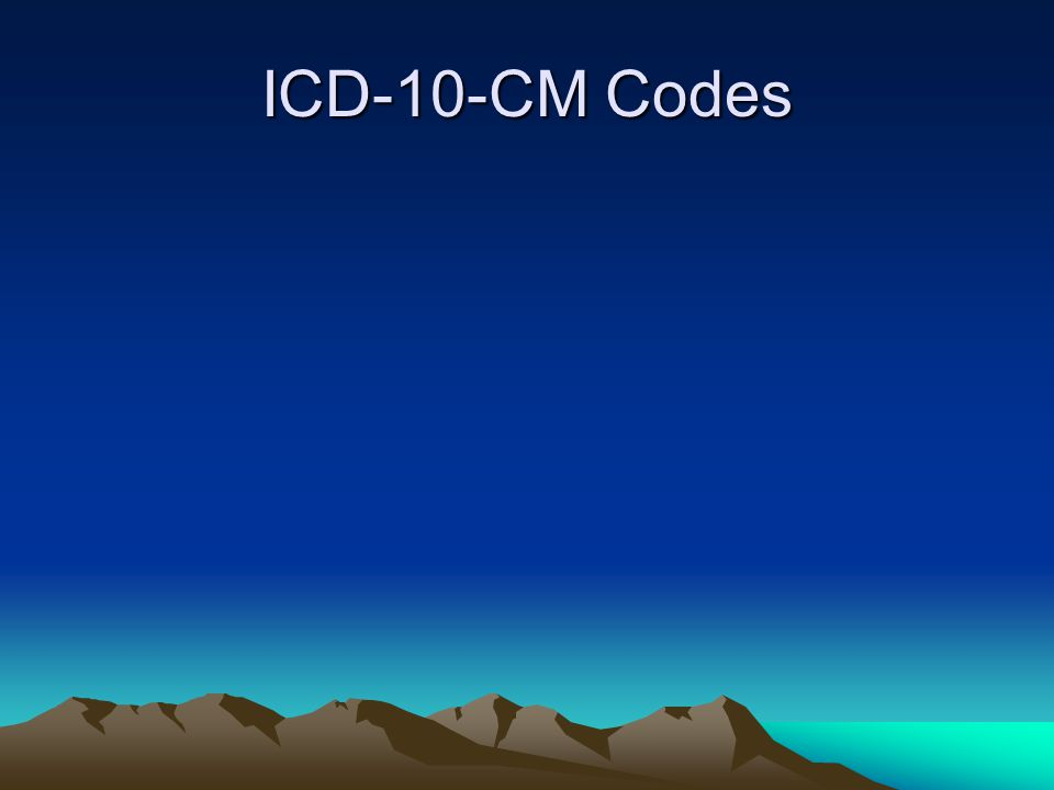 ICD-10-CM Codes