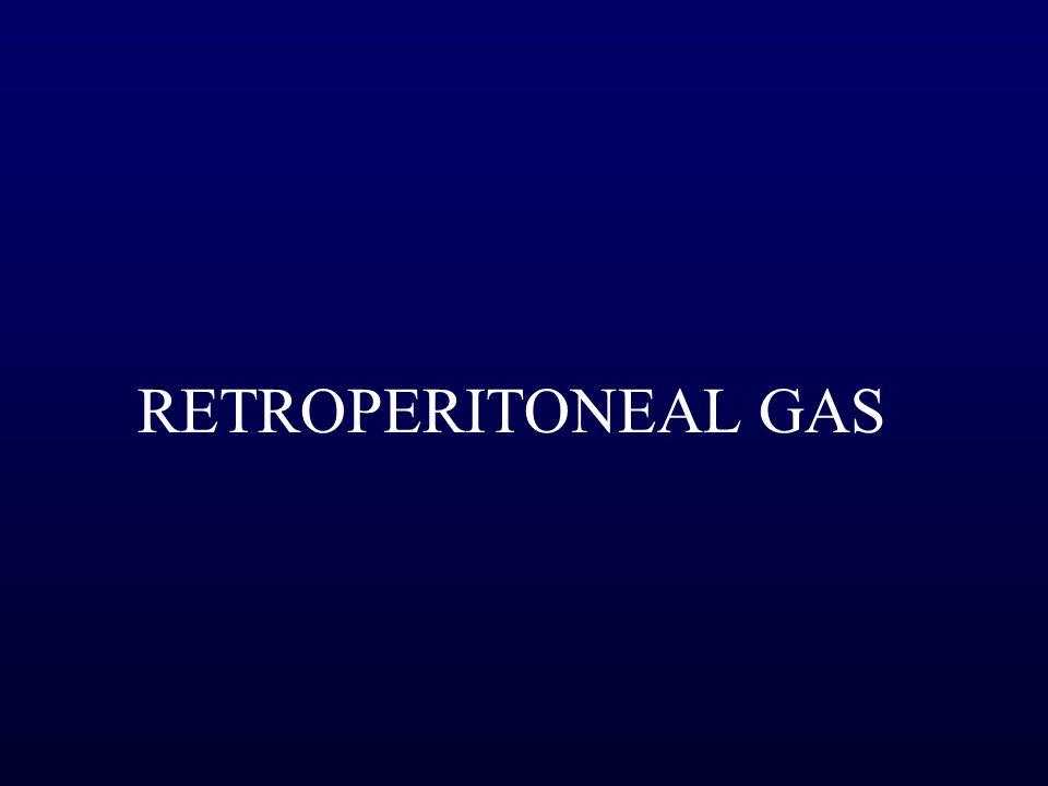 RETROPERITONEAL GAS