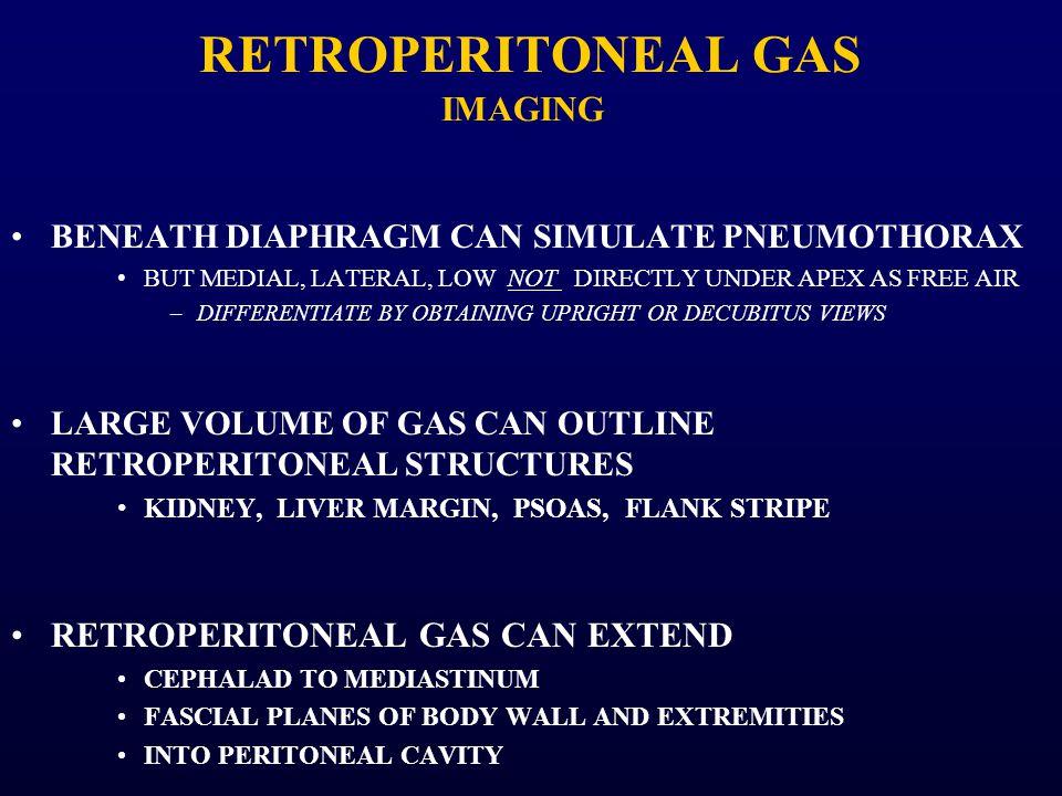 RETROPERITONEAL GAS IMAGING