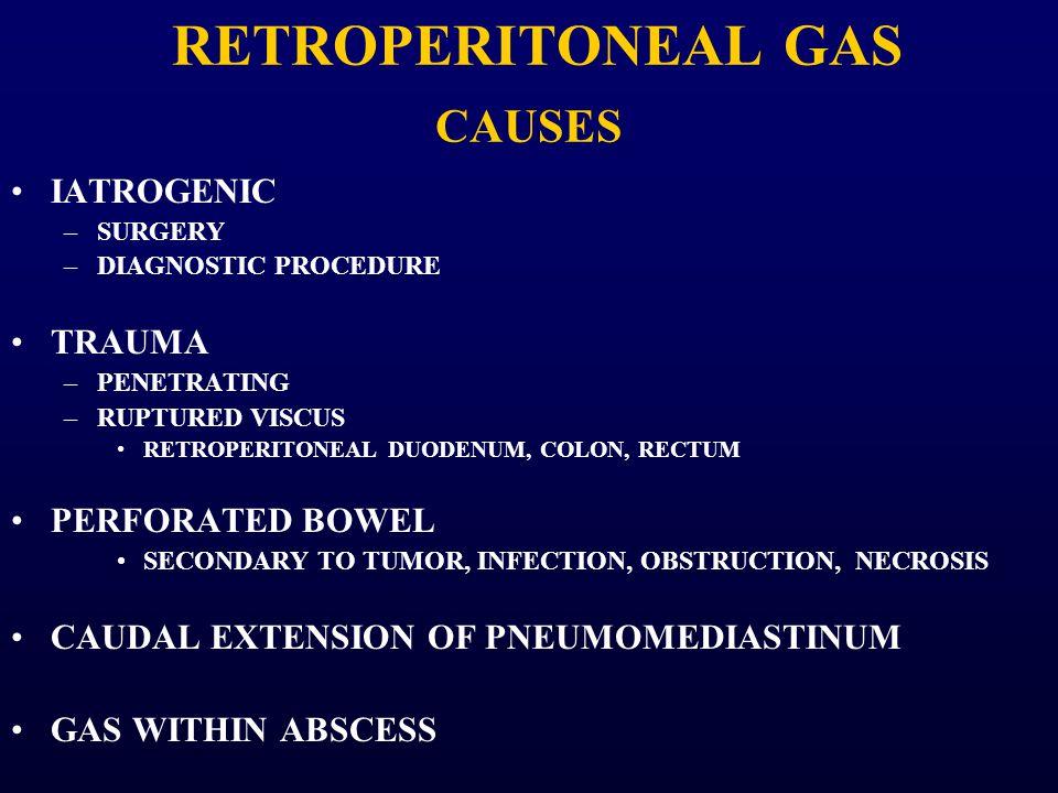 RETROPERITONEAL GAS CAUSES