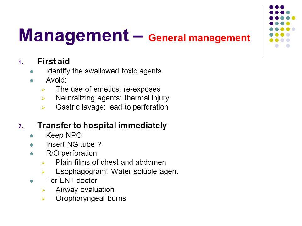 Management – General management