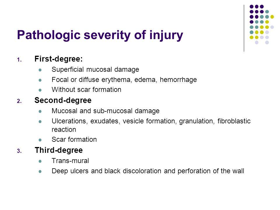 Pathologic severity of injury
