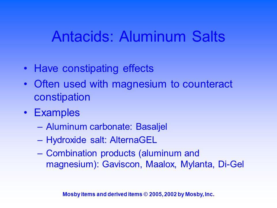 Antacids: Aluminum Salts