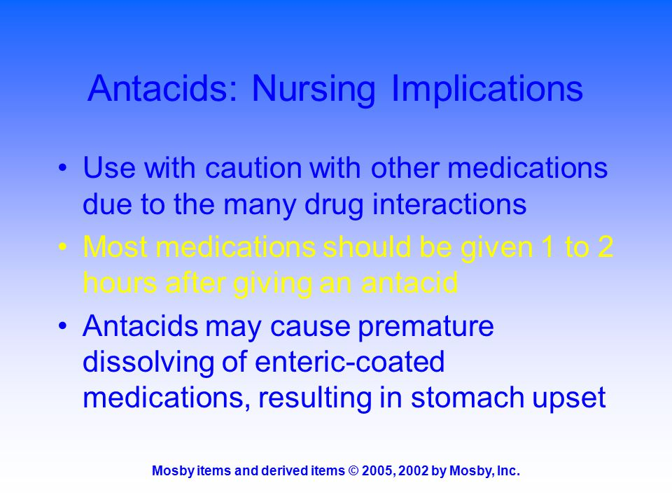 Antacids: Nursing Implications