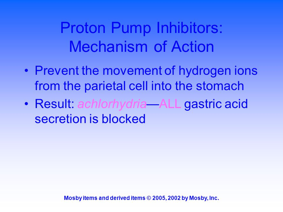 Proton Pump Inhibitors: Mechanism of Action