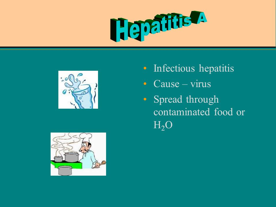 Hepatitis A Infectious hepatitis Cause – virus