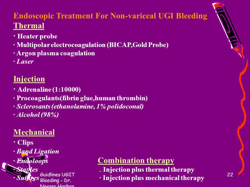 Endoscopic Treatment For Non-variceal UGI Bleeding Thermal