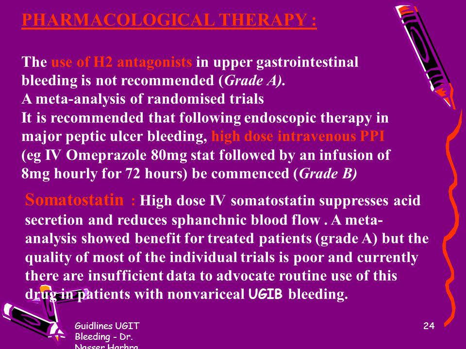 PHARMACOLOGICAL THERAPY :