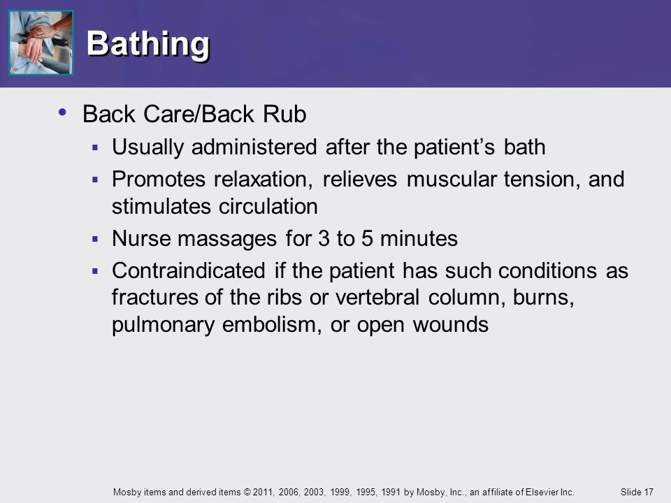 Bathing Back Care/Back Rub