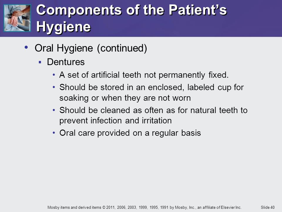 Components of the Patient's Hygiene