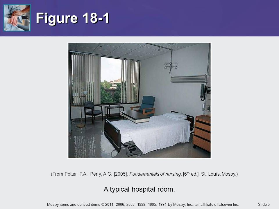 A typical hospital room.