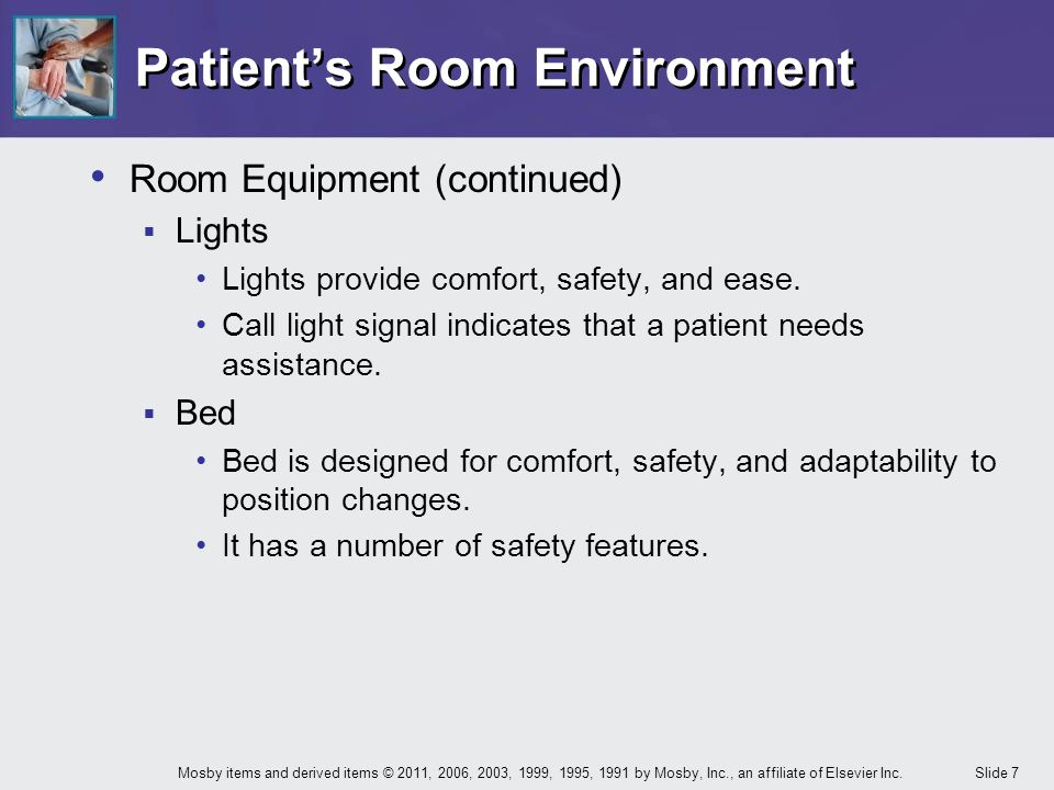 Patient's Room Environment