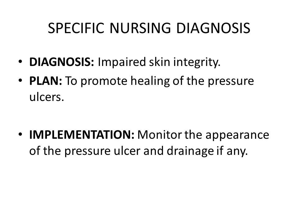 SPECIFIC NURSING DIAGNOSIS