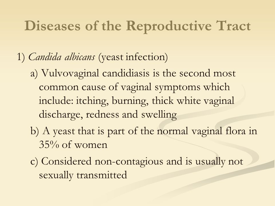 Diseases of the Reproductive Tract