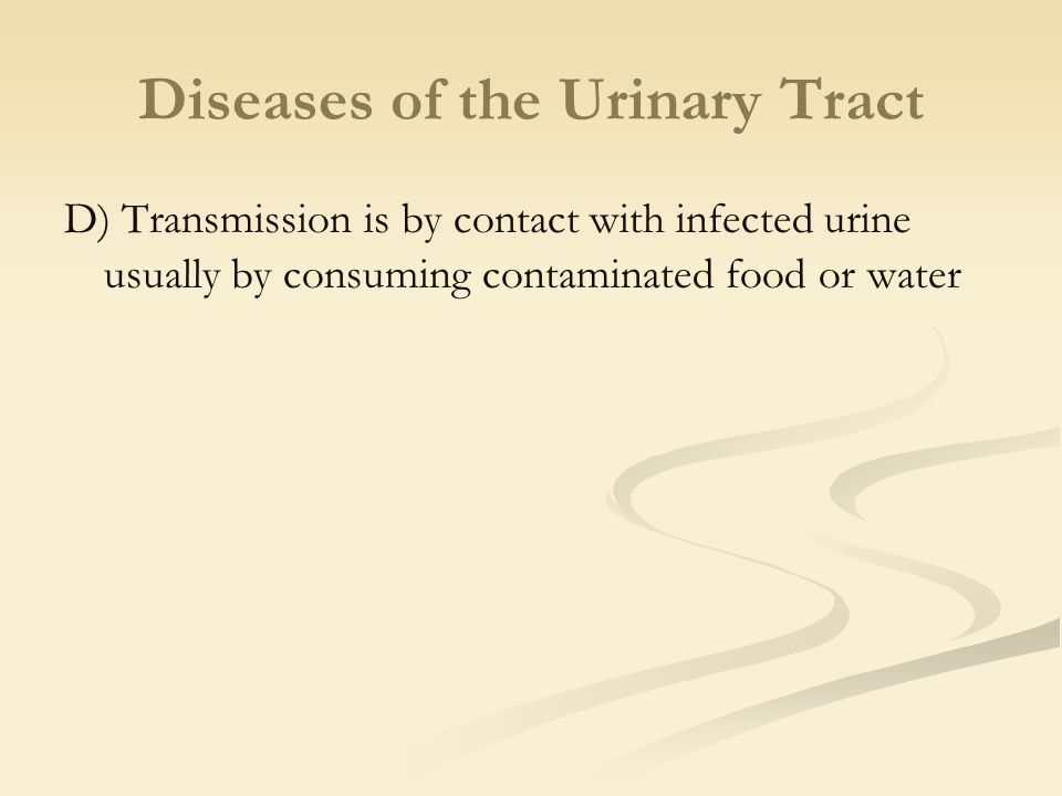 Diseases of the Urinary Tract