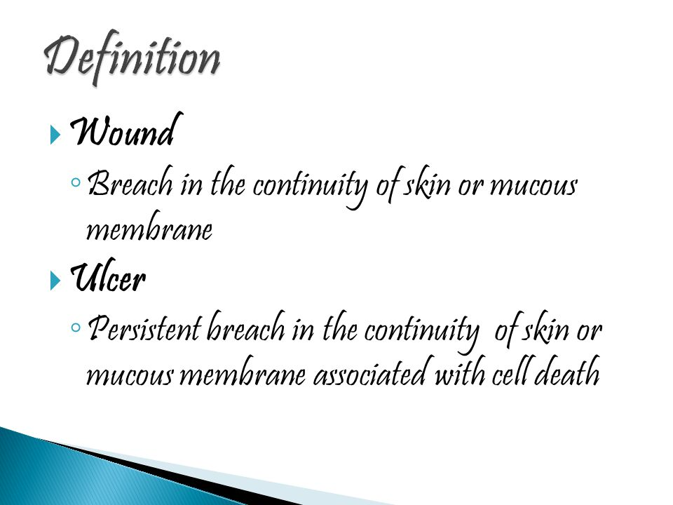 Definition Wound Ulcer