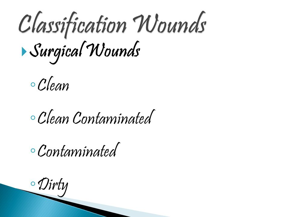 Classification Wounds