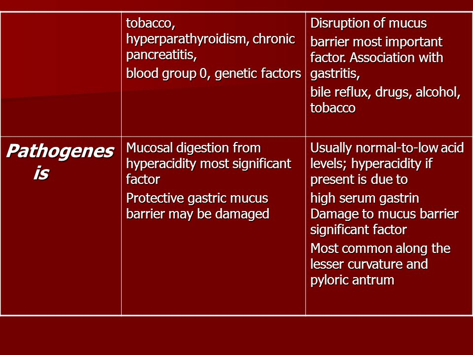 Pathogenesis tobacco, hyperparathyroidism, chronic pancreatitis,