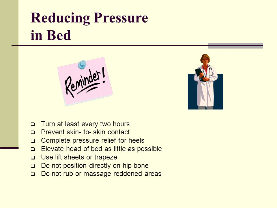 Reducing Pressure in Bed