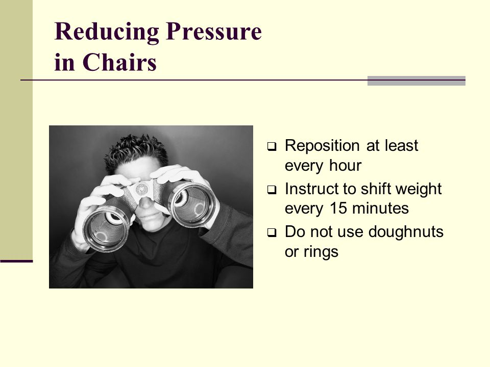 Reducing Pressure in Chairs