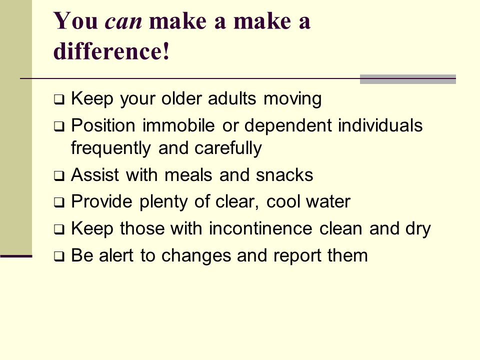 You can make a make a difference!