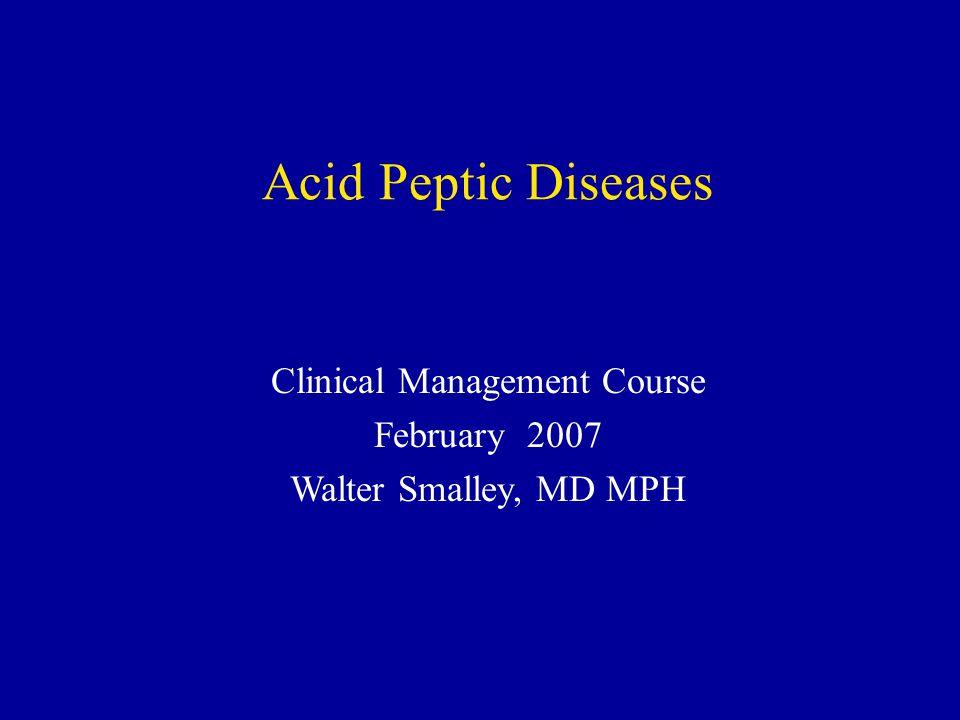 Clinical Management Course
