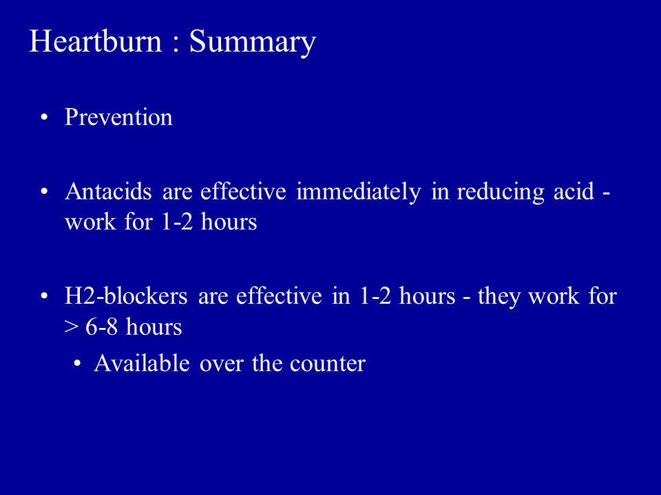 Heartburn : Summary Prevention