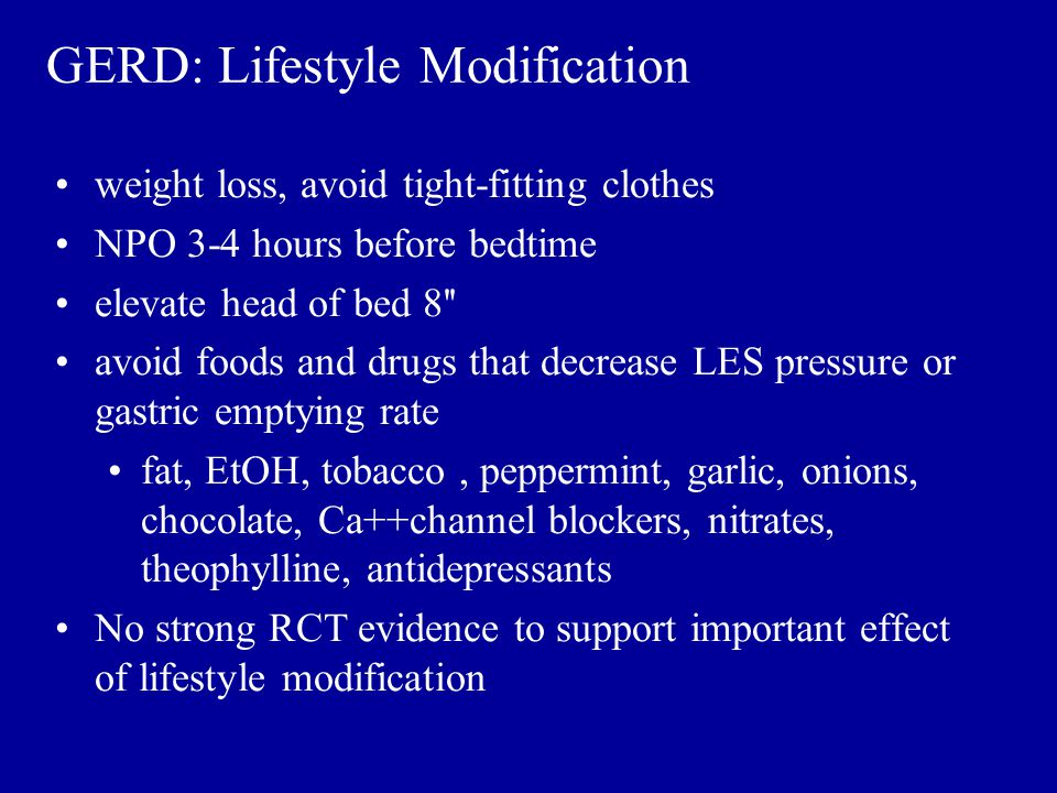 GERD: Lifestyle Modification