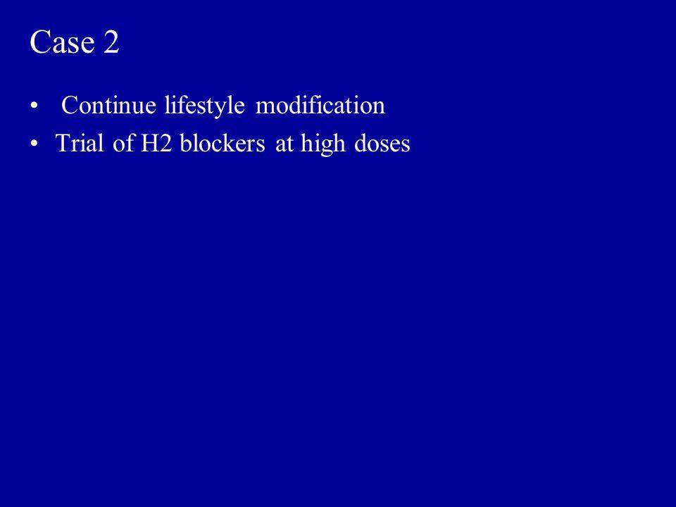Case 2 Continue lifestyle modification