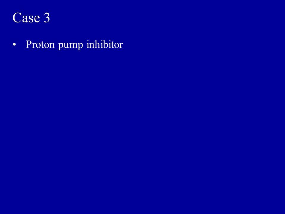 Case 3 Proton pump inhibitor