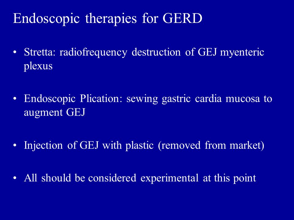 Endoscopic therapies for GERD