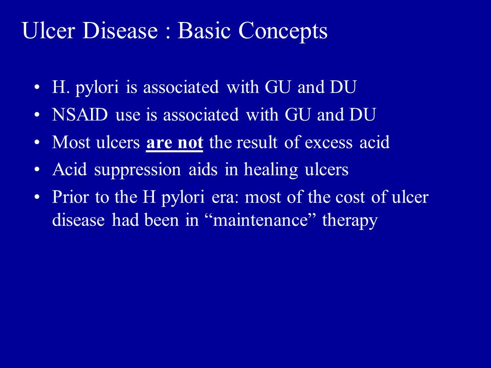 Ulcer Disease : Basic Concepts