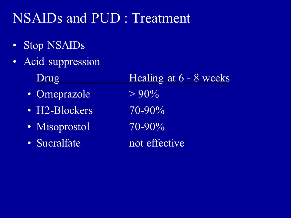 NSAIDs and PUD : Treatment
