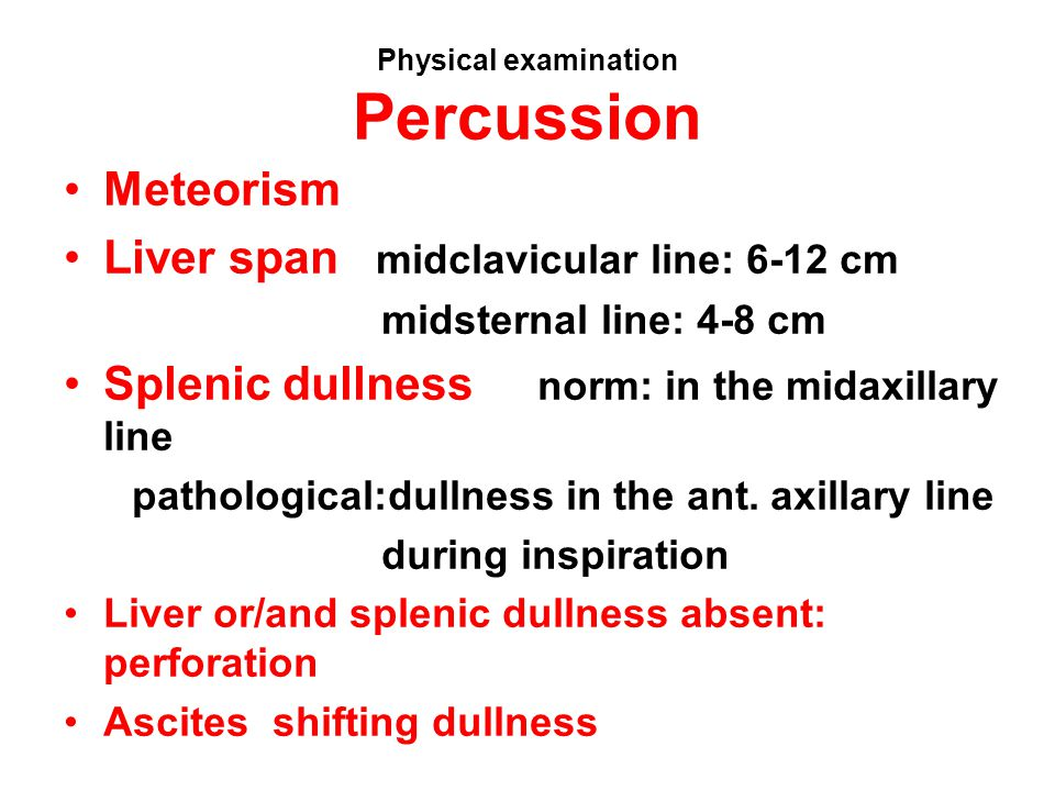 Physical examination Percussion