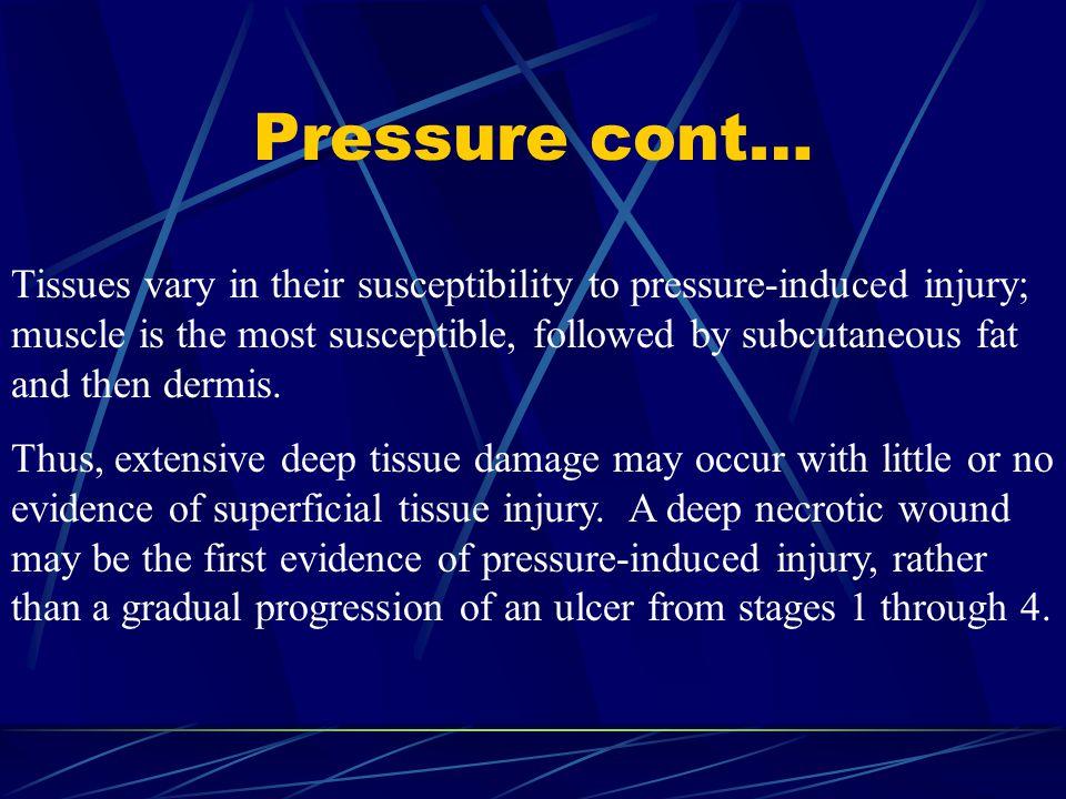 Pressure cont…