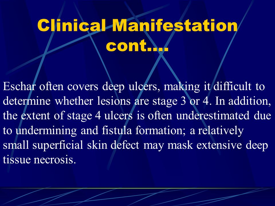 Clinical Manifestation cont….