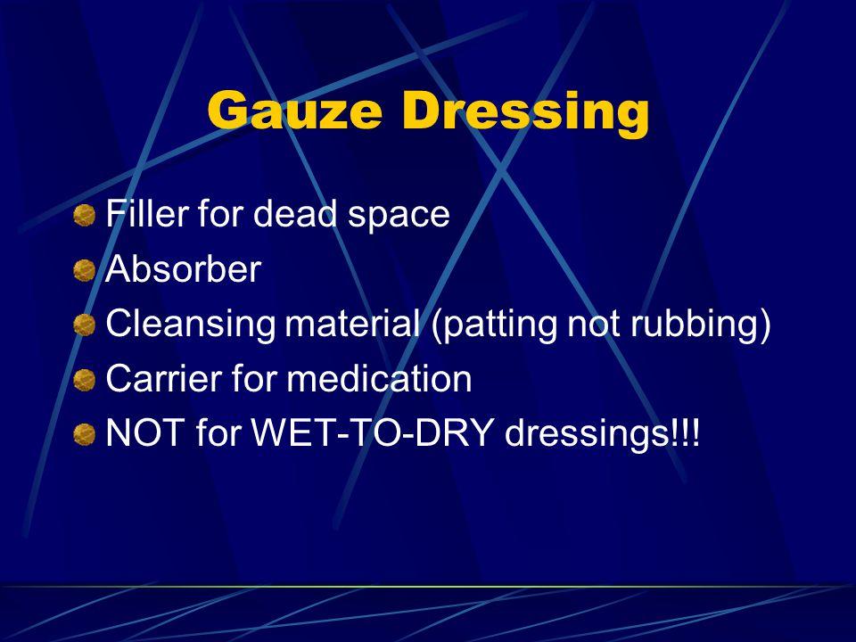 Gauze Dressing Filler for dead space Absorber