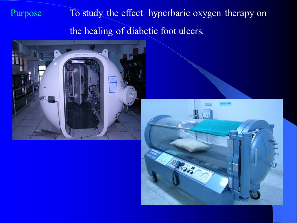 Purpose To study the effect hyperbaric oxygen therapy on