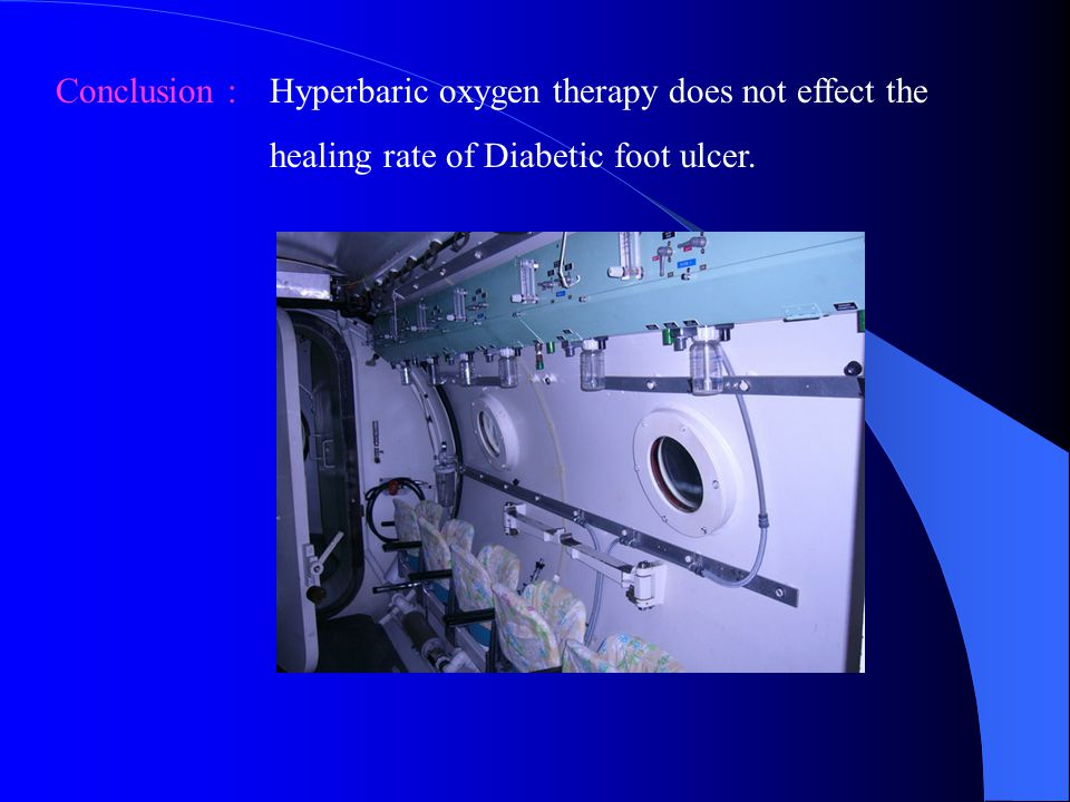 Conclusion : Hyperbaric oxygen therapy does not effect the