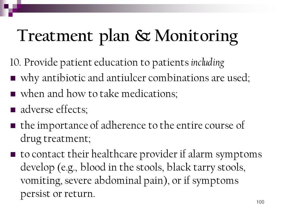 Treatment plan & Monitoring