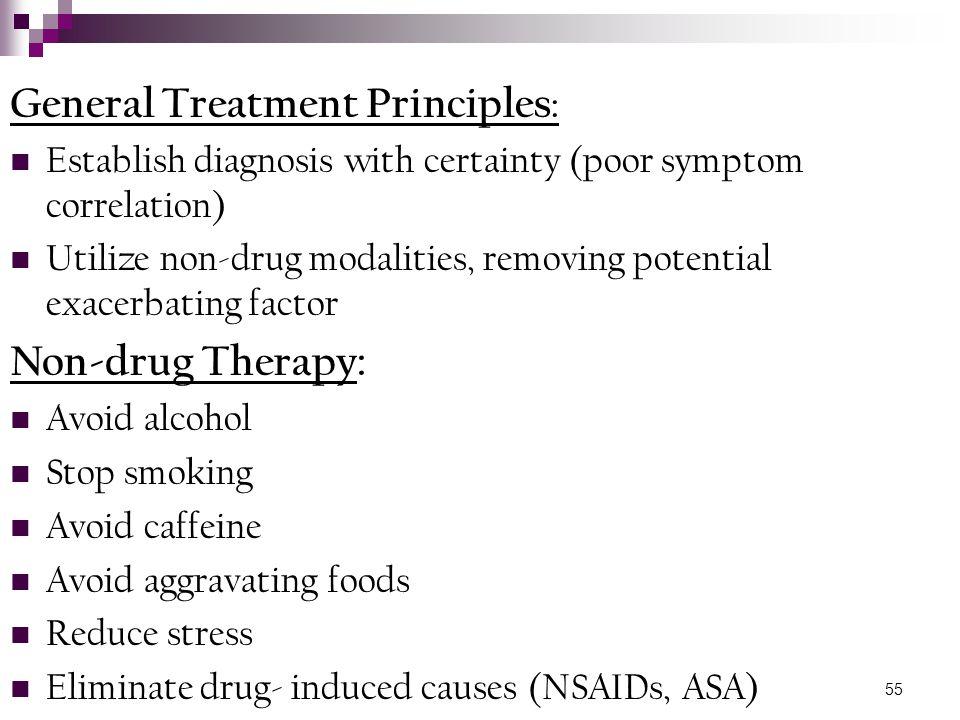 General Treatment Principles: