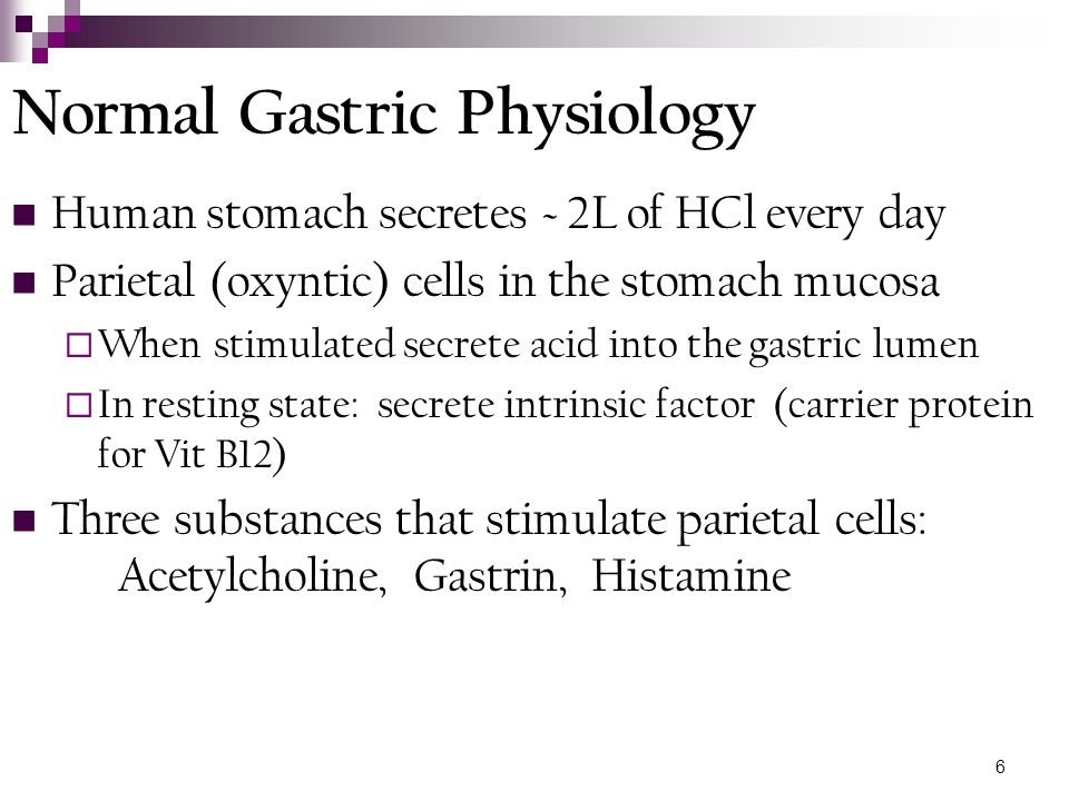 Normal Gastric Physiology
