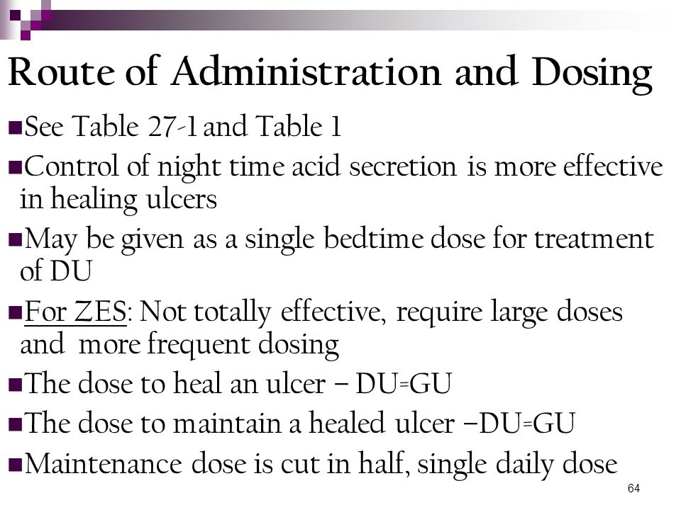 Route of Administration and Dosing